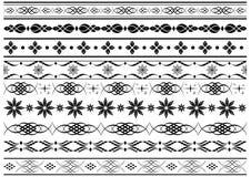 Set of vector border elements Royalty Free Stock Photos