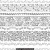 Set of vector borders Stock Image
