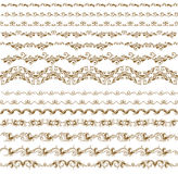 Set of vector borders,  decorative elements Royalty Free Stock Photos