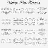 Set of vector borders. Hand-drawn calligraphic and. Set of vector vintage borders. Hand-drawn calligraphic and typographic elements. Vector illustration Royalty Free Stock Images