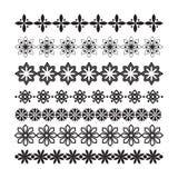 Set of vector borders and lines. Design geometric elements. Flourish ornament. Design horizontal elements. Collection of vector borders and lines Royalty Free Stock Images