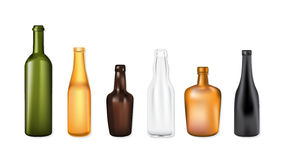 Set of vector bottles Royalty Free Stock Photography