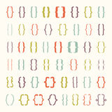 Set of vector braces or curly brackets icon Royalty Free Stock Photo