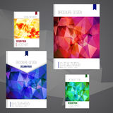 Set of Vector brochure cover design template with Stock Image