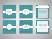 Set of vector brochure front and back side templates in abstract style . Set of Vector brochure front and back side templates in abstract style Royalty Free Stock Photos