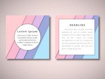 Set of vector brochure front and back side templates in abstract style . Set of Vector brochure front and back side templates in abstract style Royalty Free Stock Image