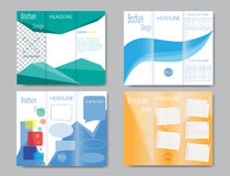 Set of vector brochure template design Stock Photography