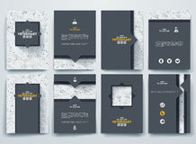 Set of vector brochures with doodles backgrounds Stock Photo