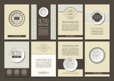 Set of vector brochures in vintage style Stock Photography