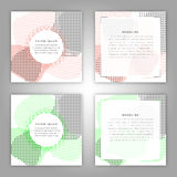 Set of vector broshure front and back side templates in abstract style . Stock Photo