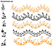 Set of vector brush with herb Royalty Free Stock Photos