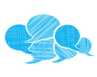 Set of vector bubbles for a chat Royalty Free Stock Images