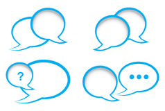 Set of vector bubbles for a chat Royalty Free Stock Photos
