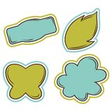 Set of vector bubbles, stickers, labels, tags Stock Image