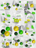 Set of vector business abstract infographics Royalty Free Stock Images