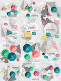 Set of vector business abstract infographics Stock Image