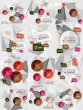 Set of vector business abstract infographics Royalty Free Stock Photography