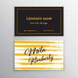 Set of vector business card templates with brush stroke background. Set of Design Templates for Brochures, Flyers, Mobile Technologies and Online Services Stock Photo