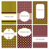 Set of vector business card templates. Stock Photos