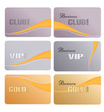 Set of vector business cards Royalty Free Stock Images