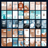 Set of vector business cards Stock Images