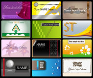 Set of vector business cards. For advertizing of your firm Stock Photography