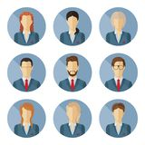 Set of vector business characters in flat design. Royalty Free Stock Images