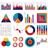Set of vector business charts Royalty Free Stock Photo