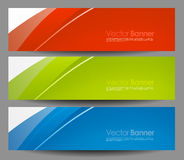 Set vector business color banners Stock Photos