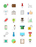 Set of vector business icons. Set of 24 vector business icons Stock Photo