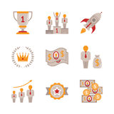 Set of vector business icons and concepts in flat style Royalty Free Stock Photography