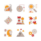 Set of vector business icons and concepts in flat style Stock Photos
