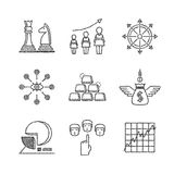 Set of vector business icons and concepts in sketch style Stock Photography