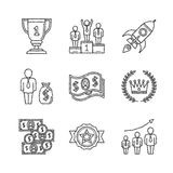 Set of vector business icons and concepts in sketch style Stock Photo