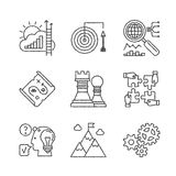 Set of vector business icons in sketch style Stock Photo