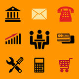 Set of vector business icons Royalty Free Stock Photo