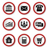 Set of vector business icons Royalty Free Stock Photography