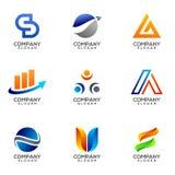 Set Of Vector Business Logo Design vector illustration