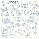 Set of vector business and money icons Royalty Free Stock Images