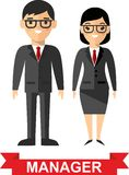 Set of vector business peoples. Vector illustration of a vector business peoples,manager man and woman Stock Photo