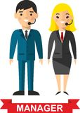Set of vector business peoples Stock Photo