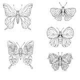 Set of vector butterflies Stock Photos