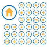 Set of vector buttons. Royalty Free Stock Photo