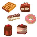Set of vector cakes stock illustration