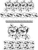 Set of calligrafic florish decoration design elements dividers,. Set of vector calligrafic florish decoration design elements dividers, borders Stock Photography