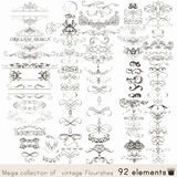 Set of vector calligraphic elements and page decorations Stock Photography