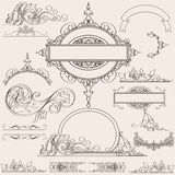Set of vector calligraphic elements and page decorations Royalty Free Stock Photography
