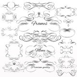 Set of vector calligraphic elements and page decorations Royalty Free Stock Images