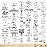 Set of vector calligraphic elements and page decorations Royalty Free Stock Photos