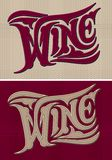 Set of vector calligraphic inscriptions wine Royalty Free Stock Photo